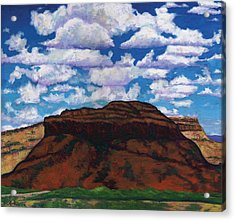 Clouds Over Red Mesa Acrylic Print by Joe  Triano