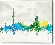 Clouds Over Shanghai China Acrylic Print by Aged Pixel