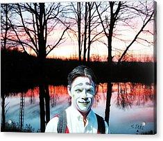 Clown Acrylic Print by Dennis Stahl