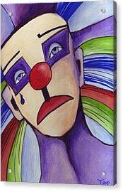 Clown Nez Rouge Acrylic Print by Mirko Gallery