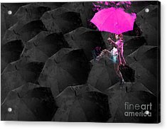 Clowning On Umbrellas 03 - 02a12 Acrylic Print by Variance Collections