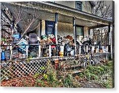 Clutter House Porch  Acrylic Print by Dan Friend