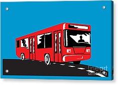 Coach Bus Shuttle Retro Acrylic Print by Aloysius Patrimonio