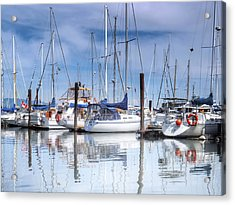 Coal Harbour Boats Acrylic Print by Carol Cottrell