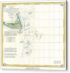Coast Survey Map Of Nantucket And The Davis Shoals Acrylic Print by Paul Fearn