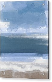 Coastal- Abstract Landscape Painting Acrylic Print by Linda Woods