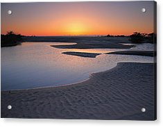 Coastal Ponds At Sunrise II Acrylic Print by Steven Ainsworth