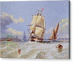 Coastal Scene Acrylic Print by Edward Gentle