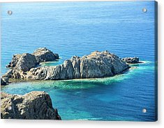 Coastal Scenery In Skala Eresou Acrylic Print by Ashley Cooper