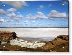 Coastal Sea Foam Acrylic Print by Luis Argerich