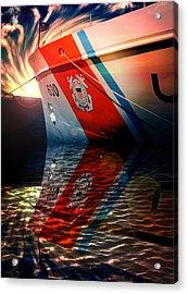 Coast Guard Uscg Alert Wmec-630 Acrylic Print by Aaron Berg