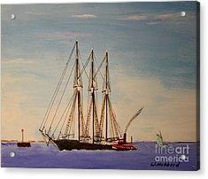 Coasting Schooner Glendon Acrylic Print by Bill Hubbard