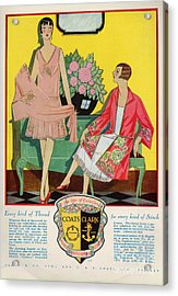 Coats And Clark  1920s Uk Art Deco Acrylic Print by The Advertising Archives