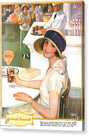 Coca-cola 1920s Usa Acrylic Print by The Advertising Archives