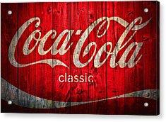 Coca Cola Barn Acrylic Print by Dan Sproul
