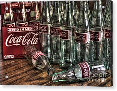 Coca Cola - Hecho En Mexico Acrylic Print by J M Lister