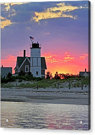 Cocktail Hour At Sandy Neck Lighthouse Acrylic Print by Charles Harden