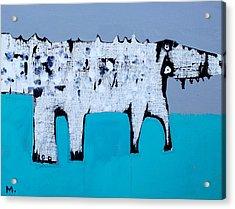 Cocodrillus Acrylic Print by Mark M  Mellon