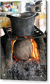 Coconut Stove Playa Paraiso Acrylic Print by Linda Queally
