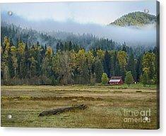 Coeur D Alene River Farm Acrylic Print by Idaho Scenic Images Linda Lantzy