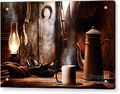 Coffee At The Cabin Acrylic Print by Olivier Le Queinec