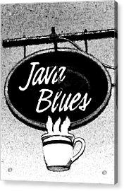 Coffee Blues  Acrylic Print by Juls Adams