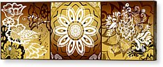 Coffee Flowers Calypso Triptych 2 Horizontal   Acrylic Print by Angelina Vick