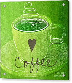 Coffee Acrylic Print by Linda Woods