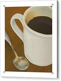 Coffee Mug And Spoon Acrylic Print by Craig Tinder