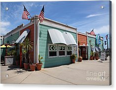 Coffee Shop At The Municipal Wharf At Santa Cruz Beach Boardwalk California 5d23833 Acrylic Print by Wingsdomain Art and Photography