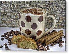 Coffee Time Acrylic Print by Tracy  Hall
