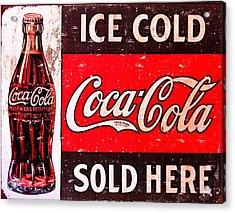 Coke Acrylic Print by Reid Callaway