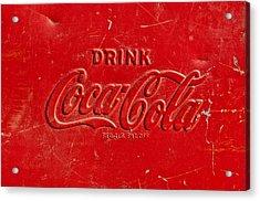 Coke Sign Acrylic Print by Jill Reger