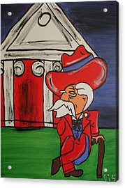 Col Reb Acrylic Print by Lisa Collinsworth