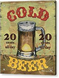 Cold Beer Acrylic Print by Debbie DeWitt