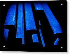 Cold Blue Steel Acrylic Print by Steven Milner