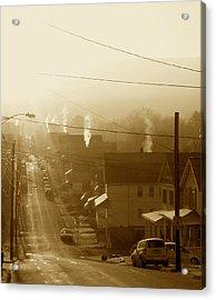 Cold Coal Town Morning Acrylic Print by Feva  Fotos