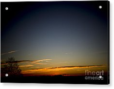 Cold Morning Sunrise Acrylic Print by Michael Waters