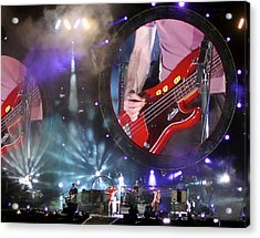 Coldplay - Sydney 2012 Acrylic Print by Chris Cousins