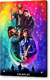Coldplay Mylo Xyloto Acrylic Print by FHT Designs
