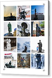Collage - Moscow Monuments - Featured 3 Acrylic Print by Alexander Senin