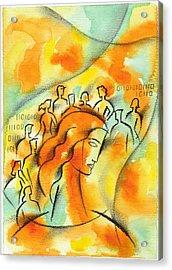 Colleague Acrylic Print by Leon Zernitsky