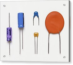 Collection Of Capacitors Acrylic Print by Dorling Kindersley/uig