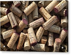 Collection Of Fine Wine Corks Acrylic Print by Adam Romanowicz