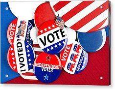 Collection Of Vote Badges Acrylic Print by Joe Belanger