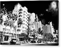 Collins Avenue Acrylic Print by John Rizzuto