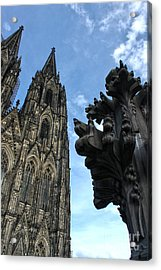 Cologne Germany - High Cathedral Of St. Peter - 13 Acrylic Print by Gregory Dyer