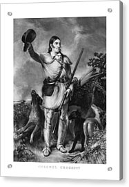 Colonel Davy Crockett Acrylic Print by War Is Hell Store