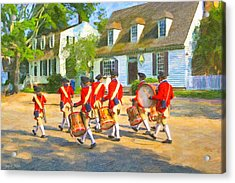 Colonial American Marching Band Acrylic Print by Mark E Tisdale