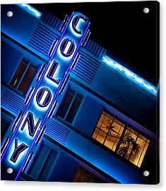 Colony Hotel 1 Acrylic Print by Dave Bowman